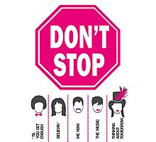 Don't Stop... (Pink Color) - Music Poster - Michael Jackson - Queen - Rihanna - Journey - Fleetwood Mac Photographic Print