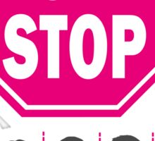 Don't Stop... (Pink Color) - Music Poster - Michael Jackson - Queen - Rihanna - Journey - Fleetwood Mac Sticker