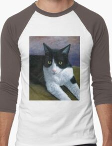 Cat 577 Tuxedo Men's Baseball ¾ T-Shirt