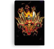 Emerald Eyed Dragon Head Mask Canvas Print