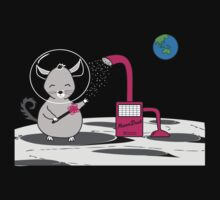 Chinchilla Moon Dust Bath - Kids Cute Cartoon Character by designedbyn