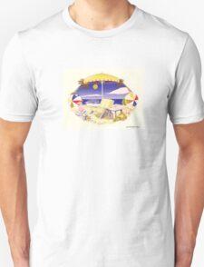 Beach Chair Umbrella Unisex T-Shirt