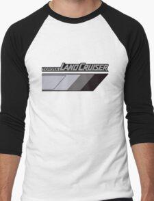 Land Cruiser body art series, grey tri-tone.  Men's Baseball ¾ T-Shirt