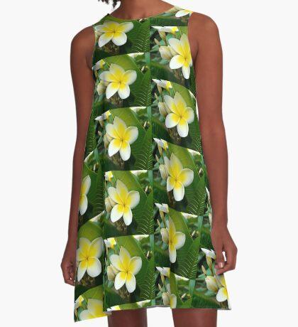 Plumeria A-Line Dress