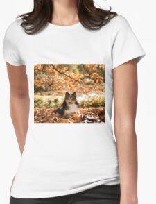 Sheltie Dog Womens Fitted T-Shirt