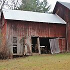 Old Red Weathered Barn by Gilda Axelrod