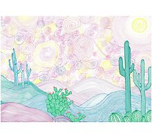 Spirals in the desert sky Photographic Print