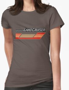 Land Cruiser body art series, red gold stripe.  Womens Fitted T-Shirt