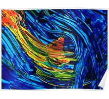 Colorful Abstract Art - Energy Flow 5 - By Sharon Cummings Poster