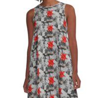 Red Four O'Clock A-Line Dress