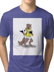 Happy Pokemon Werewolf Tri-blend T-Shirt