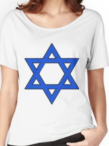 Star of David Blues Women's Relaxed Fit T-Shirt