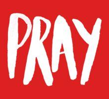 Pray Typography x Rose One Piece - Short Sleeve