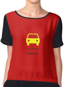 You are always playing Yellow Car Chiffon Top