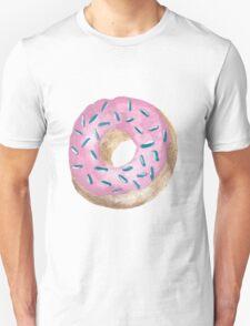 Pink Donut Print Unisex T-Shirt