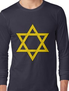 Golden Star of David Long Sleeve T-Shirt