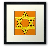 Golden Star of David Framed Print