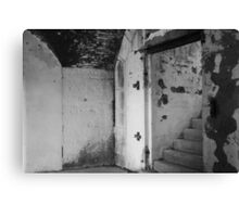 Black and White Staircase Canvas Print