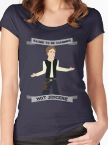 Han Solo: Raised to be Charming Women's Fitted Scoop T-Shirt