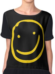 Smile if You're Bored Chiffon Top