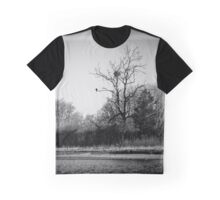 Tree With A Bird's Nest Receiving A Visit From A Seagull | Orient, New York Graphic T-Shirt