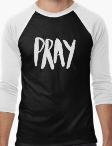 Pray Typography x Navy Men's Baseball ¾ T-Shirt