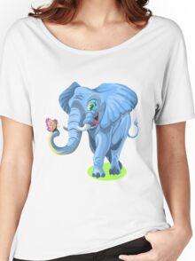 Elephant Cartoon Women's Relaxed Fit T-Shirt