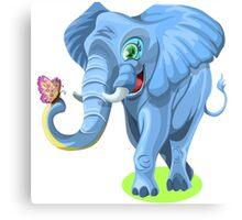 Elephant Cartoon Canvas Print