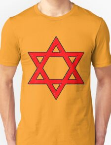 Star of David in the Red Unisex T-Shirt