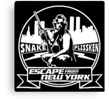 Snake Plissken (Escape from New York) Badge Canvas Print