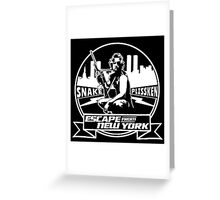 Snake Plissken (Escape from New York) Badge Greeting Card