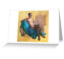 Black Stockings Greeting Card
