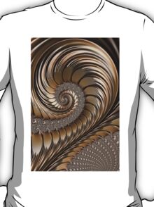 Bronze Scrolls Abstract T-Shirt
