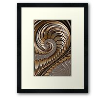 Bronze Scrolls Abstract Framed Print