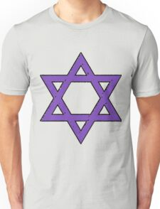 Purple People Eater Star of David Unisex T-Shirt
