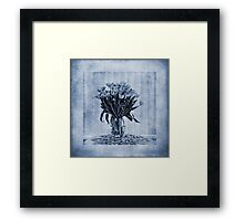 Watercolour Tulips in Blue Framed Print
