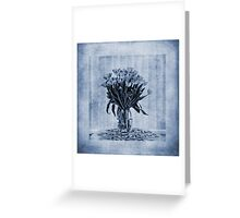 Watercolour Tulips in Blue Greeting Card