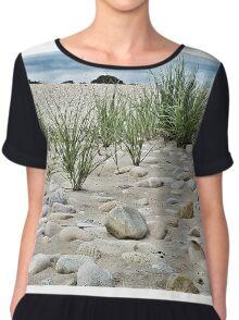 Dune Grass, Sand and Beach Rocks Chiffon Top