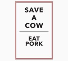 Save A Cow - Eat Pork One Piece - Long Sleeve