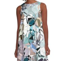 Abstract Geometric Shapes A-Line Dress