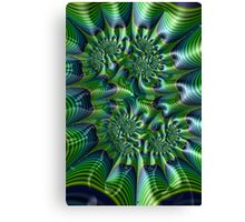 Abstract in Green and Blue Canvas Print
