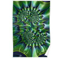 Abstract in Green and Blue Poster
