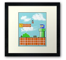 Whos' World Framed Print