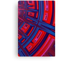Abstract in Red and Blue Canvas Print