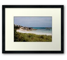 Playa de Illetas Watercolour Framed Print