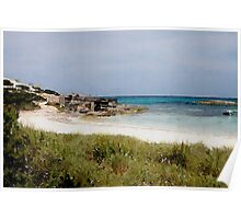 Playa de Illetas Watercolour Poster