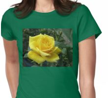 Tickle me yellow - not pink! Captivating Golden Rose Womens Fitted T-Shirt