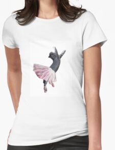 Les Pointe: Lil Grey in Pink Womens Fitted T-Shirt
