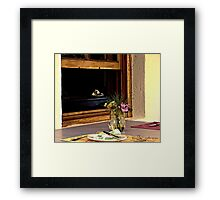 Breakfast With The Pastor Framed Print