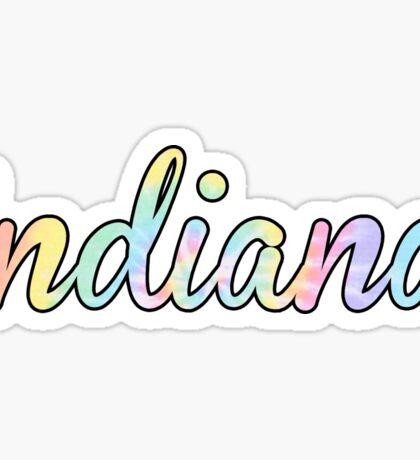 Indiana University Tie Dye Sticker